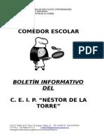 Boletin Informativo de Comedor 08-09