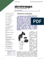 [A Contretemps, Bulletin bibiliographique] Nietzsche et l'anarchisme