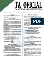 Sumario Gaceta Oficial 39.376