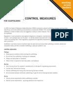 Scaffolding Control & Measures