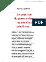 Pierre Clastres Pouvoir et sociétés primitives
