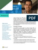WorkshopPLUS Exchange Server 2013 Installation Et Introduction