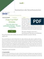 48 de Utilizari Fantastice Ale Bicarbonatului de s