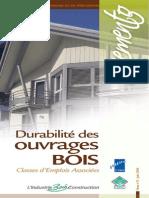 Durabilité Des Ouvrages Bois - Classes d'Emplois - FIBC