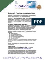 Biodiversity Teacher Notes Gen