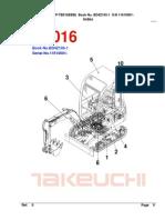 Parts Manual Tb016 Bd4z105-1 Tnv