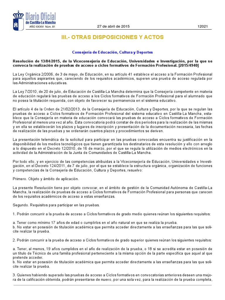 Res20150413 Convocatoriapruebasaccesocf2015 2