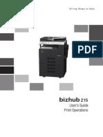 Bizhub 215 Ug Print Operations en 1 1 0