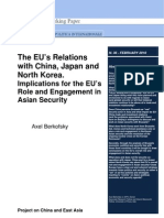 The EU's Relations With China, Japan And