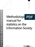 Methodological manual for statistics on the Information Society