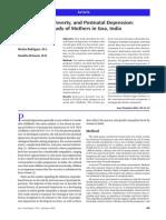 Gender Poverty and Postnatal Depression