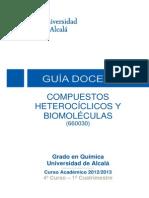 Guía Docente Compuestos Heterociclicos