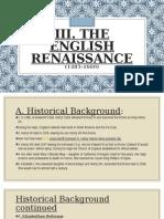 the english renaissance - maan