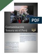 Contaminación Sonora en El Perú
