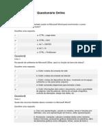 Técnicas de Informática - Unip Questionário Online 2