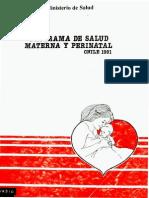 2343-Programa de Salud Materna y Perinatal 1991