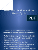 water distribution and the water cycle