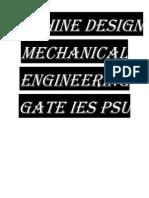 Mechanical Machine Design