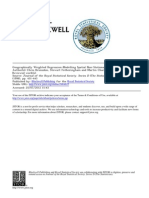 Geographically Weighted Regression Modelling Spatial Nonstationarity