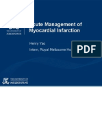 Acute Management of Myocardial Infarction No Pictures
