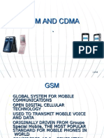 Gsm and Cdma presentation