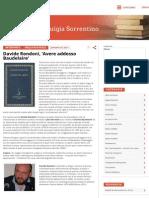 Davide Rondoni, 'Avere Addosso Baudelaire'