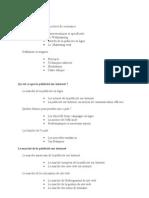 Points Relatifs a l'Expose Publicite Sur Internet Et Sites Web