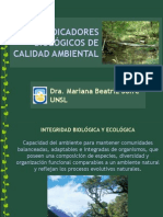 Indicadores Biológicos de Calidad Ambiental Jornada Serrana Nov2009