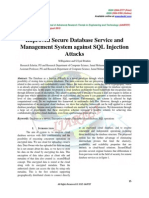 Improved Secure Database Service and Management System against SQL Injection Attacks