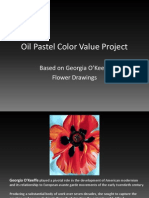 oil pastel color value project