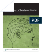 The Psychology of Sustainable Behaviors