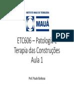 Aula 1 - Etc606