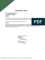 Recuerdos de La Alhambra - Spartito Pianoforte
