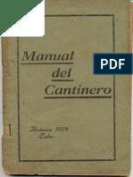 Manual de Cantineros Club de Cantineros Habana Cuba 1924