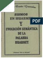 SISMOS EN HUARMEY Y EVOLUCIÓN SEMÁNTICA DE LA PALABRA HUARMEY - HEBER OCAÑA GRANADOS.