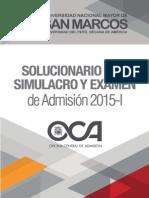 Solucionario Del Simulacro y Examen de Admisión 2015-I