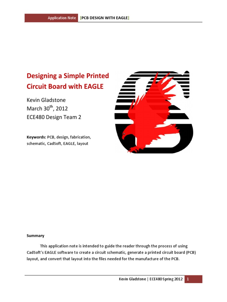 Designing A Simple Pcb With Eagle Printed Circuit Board Design Schematic Operational Amplifier