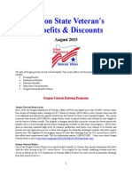 Vet State Benefits & Discounts - Or 2015