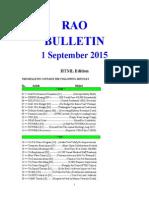 Bulletin 150901 (HTML Edition)