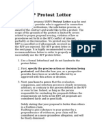 RFP Protest Letter