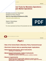Monetary policy and monetary policy instruments