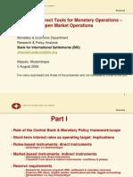Monetary policy and monetary policy instruments