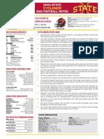 Iowa State football notes for UNI