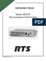 Telex Mce325