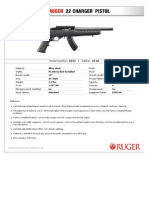 Ruger Polymer Stock 22 Charger Pistol