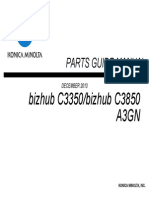 Konica Minolta Bizhub C3350-C3850 Parts Guide Manual