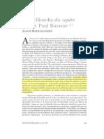GAGNEBIN, J. Uma Filosofia Do Cogito Ferido - Paul Ricoer