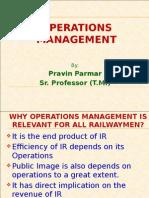 Operations Management-SR Prof Traffic Mgt
