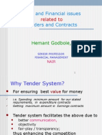 Legal and Finacial Issues Related to Tenders SPFM