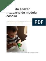 Aprenda a Fazer Massinha de Modelar Caseira